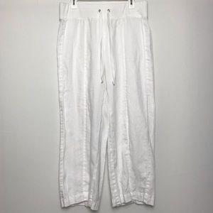 Ann Taylor Linen Cropped Pants